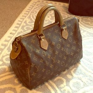 Louis Vuitton Speedy 30 French Company Bag